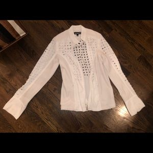 GUC White Anatomie perforated jacket